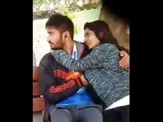 Couple caught in park