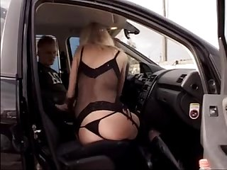 Classy anna lena blum as a fetish hooker sucking in the steps