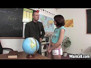 Horny professor fucks Dahlia DeNyle after class