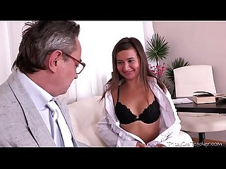 Being young and inexperienced maia thinks she wants to suck her teachers cock