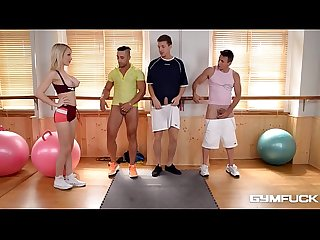 Slut Chessie Kay Gives Head for 3 of Her Students