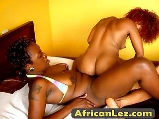 Hot African lesbians Jojo & Akua fuck in the bedroomfinal