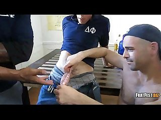 Hot threeway blowjob