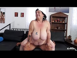 SCAMBISTI MATURI - Italian BBW newbie fucked by younger dude got cum on pussy
