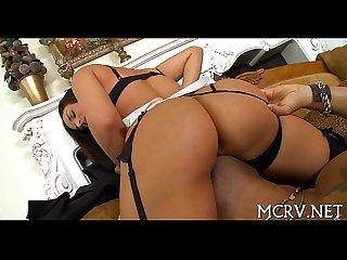 Sex makes curvy playgirl cum a lot