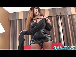 BBW tgirl goddess toys her chocolate bar