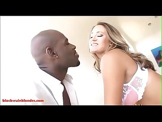 Blacksruinblondes.com dirty blond whore gets pussy and asshole broken by black