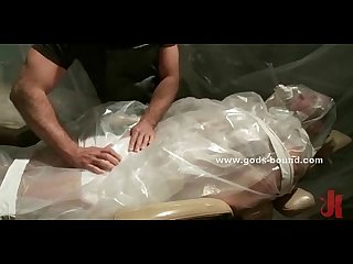 Gay man brought wrapped in nylon