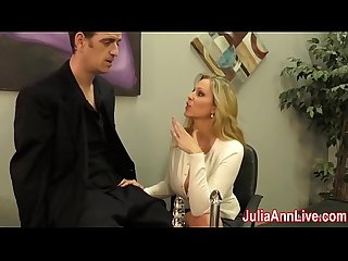 Sexy milf julia ann milks him on date night