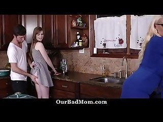 Daughter Joins Her Mom Getting Fucked From Her Boyfriend