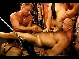 Five man sensual CBT, BDSM orgy.