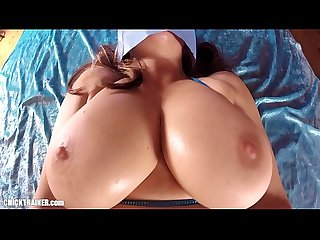 Complete baghead big tits anal ass to mouth submissive busty girlfriend swallows cum through the spu