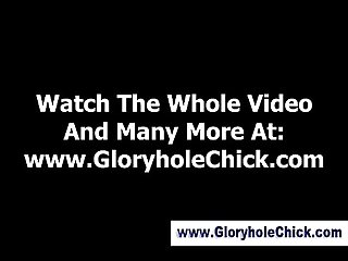 Cock loving gloryhole slut gets a cumshot