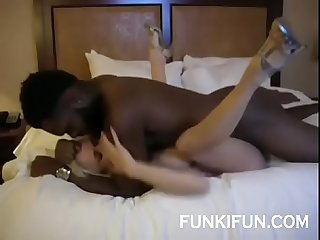 Gorgeous Snowbunny stepmom fucked by big black bull