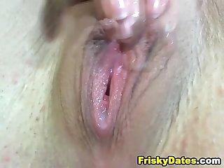Tight pink pussy fingered