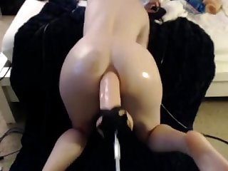 Teen take a huge dildo in her ass camparadise net