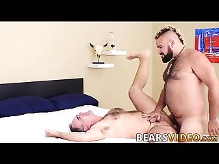 Mature daddy and his hairy cub have hardcore fuck session