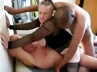 BBW SLUT WIFE GETS ARSE DESTROYED BY BBC IN GB dp, dvp