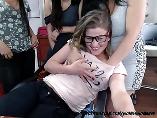 College girl getting groped