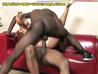 Black dp for Mature blonde