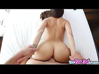Zaya cassidy gets her shaved pussy fuck sideway