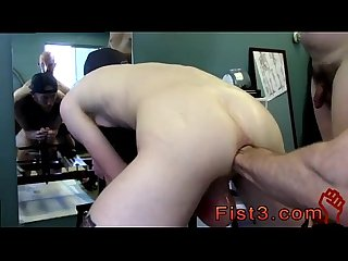 Young gay male extreme fist fucking first time saline Injection for