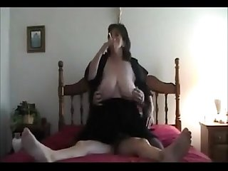 Hot mature dirty talking bbw smoking and riding