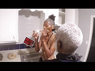 Dope man grandpa is back getting his black dick sucks