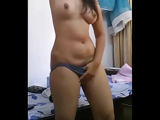 NADIA MOROCCAN WITH HER WEBCAM IN HER ROOM