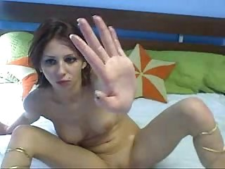Hot russian webcam girl fists comma licks pussy juice comma and gags on fingers excl