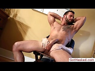 Pierced hunk gets blowjob by gotmasked