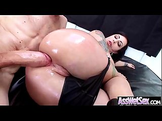Hot ass girl get her huge behind oiled and deep nailed video 11