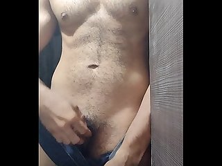 Hot hairy muscular Indian guy solo tease & masturbation