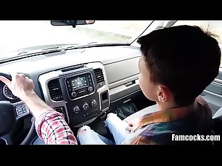 Riding Dad's Cock On A Road Trip To Visit Mom