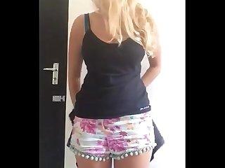 Rubia Tetona Manda videos a Su novio