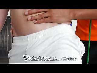 Manroyale seducing the personal trainer