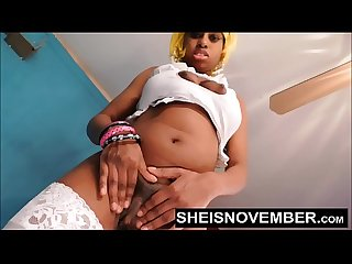 Tiny Black Girl Msnovember Sensual Pussy Squirt , Her Skinny Waist Standing And Turning Her..