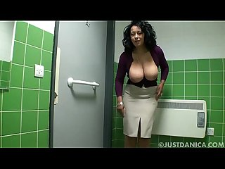 Danica collins donna ambrose in public toilet