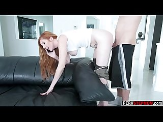 Busy Milf stepmom swallowed a dirty stepsons big cock