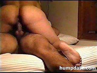 Latin wife with big booty riding hubbys cock