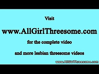 Horny lesbian teen squirts during trio