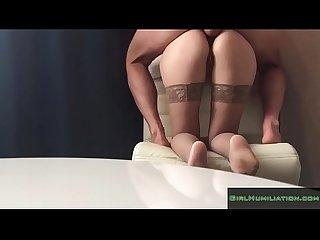 Deep anal fucking skinny russian wife