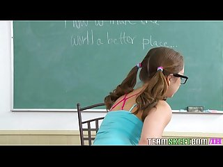 Innocenthigh Nerd smalltits teen remy lacroix fucks teacher