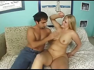 Chubby blonde takes it hard from her brother-in-law