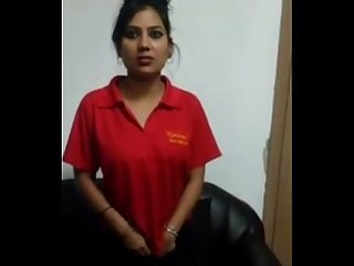 Cute indian babe undressing