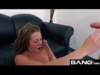 Bang casting amateur has her first go on the casting couch