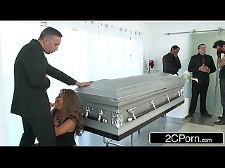 Busty Japanese Milf Akira Lane Has Public Sex at the Funeral