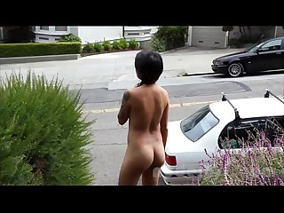 Nude in San Francisco: Hot Asian Girl Explores Public Park Naked
