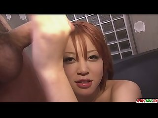 Filthy redhead Asian babe showing off her sexy ass and big tits - More at javhd.net