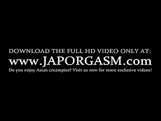 Lusty asian teen gets hot tits and pussy oil massaged